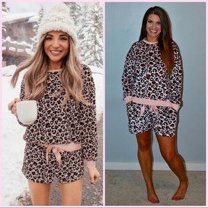 Blush Leopard Loungewear/ Pajamas S-L